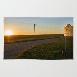Hauge Cemetery Sunset Rug