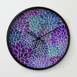 Floral Abstract 22 Wall Clock
