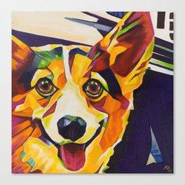 Pop Art Corgi Canvas Print