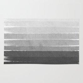 Brushstroke - Ombre Grey, Charcoal, minimal, Monochrome, black and white, trendy,  painterly art  Rug