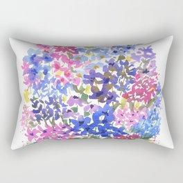 Blue Delphinium Garden Rectangular Pillow