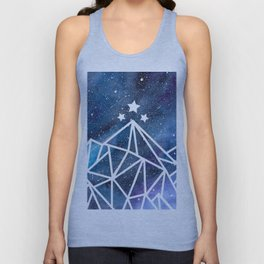 Watercolor galaxy Night Court - ACOTAR inspired Unisex Tank Top