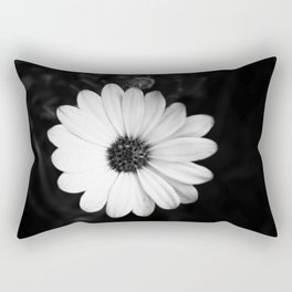 Who Knew There Could Be So Much Darkness In A Pretty Flower? Rectangular Pillow