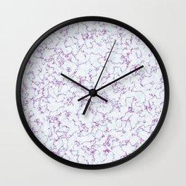 Pink inlay Wall Clock