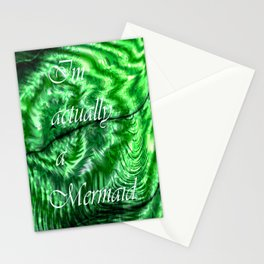 I´m Actually A Mermaid - Green Stationery Cards