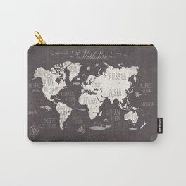 The World Map Carry-All Pouch