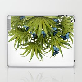 """El Bosco fantasy, tropical island blue butterflies 02"" Laptop & iPad Skin"