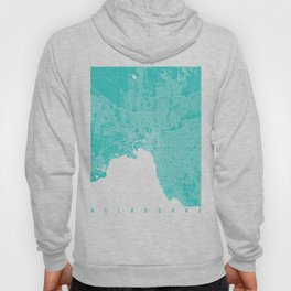 Melbourne map turquoise Hoody