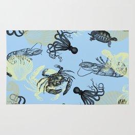Vintage Sea Creatures Rug