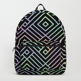 Modern Holographic Symmetric Pattern Backpack