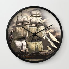 sailing ship vintage Wall Clock