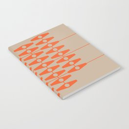 abstract eyes pattern orange tan Notebook