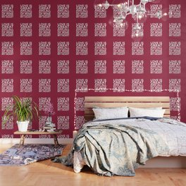 Love is Great and All But a Bottle of Wine Never Broke My Heart (Burgundy Red) Wallpaper