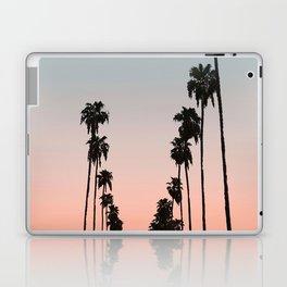California Sunset // Palm Tree Silhouette Street View Orange and Blue Color Sky Beach Photography Laptop & iPad Skin