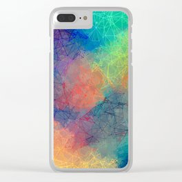 Reflecting Multi Colorful Abstract Prisms Design Clear iPhone Case