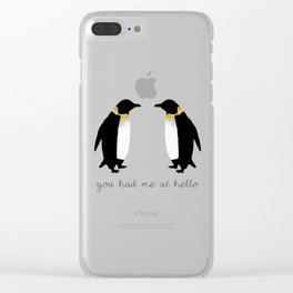 You Had Me At Hello Clear iPhone Case