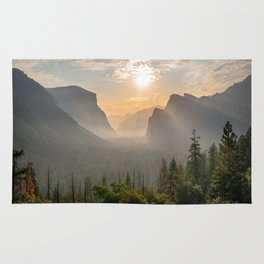 Morning Yosemite Landscape Rug
