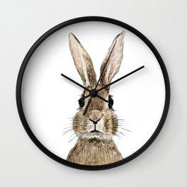cute innocent rabbit Wall Clock