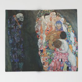 Life and Death - Gustav Klimt Throw Blanket