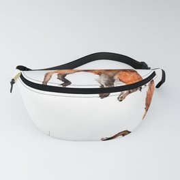 Jumping Red Fox Fanny Pack