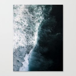 Oceanscape - White and Blue Canvas Print