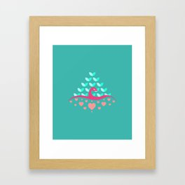 Be Beautiful - Be Colourful Peacock Framed Art Print