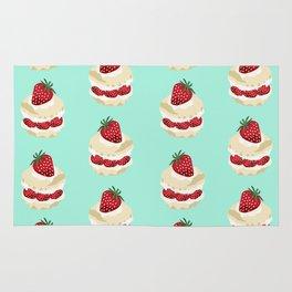 Fruit Shortcake dessert food apparel and gifts food fight mint Rug