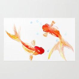 Goldfish, Two Koi Fish Rug