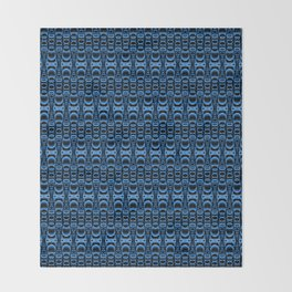 Dividers 07 in Blue over Black Throw Blanket