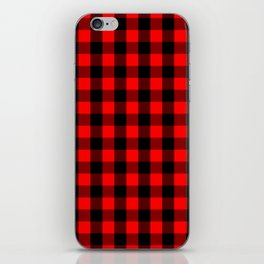 Classic Red and Black Buffalo Check Plaid Tartan iPhone Skin