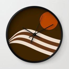 Swell - Cocoa Stripes Wall Clock