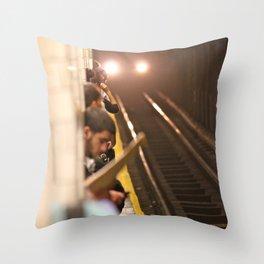 Subway Stories (Pt 1 - New York City) Throw Pillow