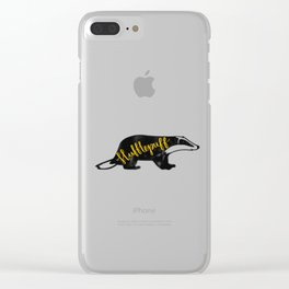 Hufflepuff Badger Clear iPhone Case