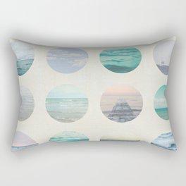 Ocean Polka dot  Rectangular Pillow