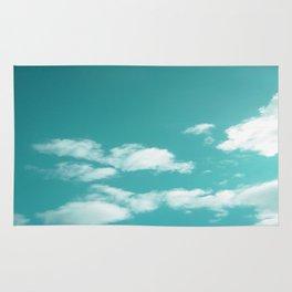 Teal kissed sky. Rug