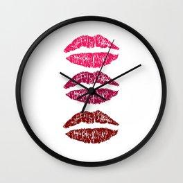 Trois Lips Wall Clock