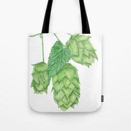 Beer Hop Flowers Tote Bag