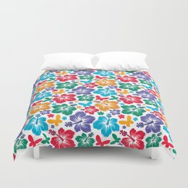 Hibiscus Pattern Duvet Cover