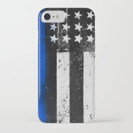 Thin Blue Line - Back the Blue iPhone Case
