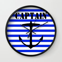 Captain and anchor logo Wall Clock