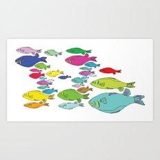 FISHpaint Art Print