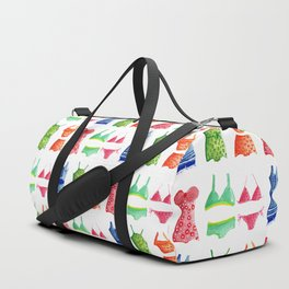 Evolution of the swimsuit pattern Duffle Bag