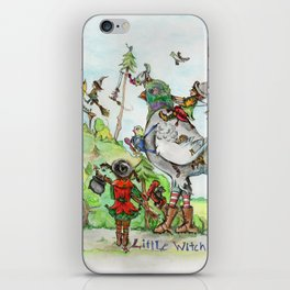 Little Witch Vacation iPhone Skin