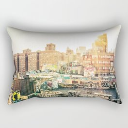 New York City Graffiti Rectangular Pillow