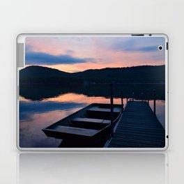 Pretty Adirondack Dawn: Jon Boat and Old Dock Laptop & iPad Skin