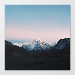 Blue & Pink Himalaya Mountains Canvas Print