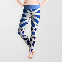 V19 Epic Light Blue Traditional Moroccan Pattern Design . Leggings