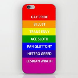 7 Deadly Queers iPhone Skin
