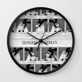 Dangerous Woman Drawings Design Pattern Wall Clock