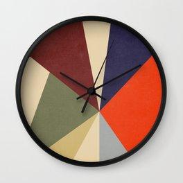 Mature Color Block Wall Clock